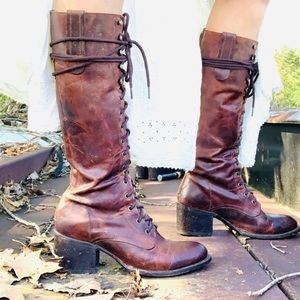 Freebird by Steven Military Grany Boots Cognac 9.5